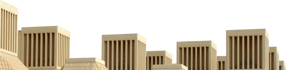 photo of Qatar University buildings - left side